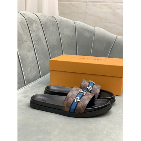 日本完売 LOUIS VUITTON ルイヴィトン 牛革スリッパ サンダル5色カジュアルシューズブランドコピー代引き安全後払い優良サイト