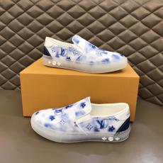 LOUIS VUITTON ヴィトン メンズ牛革運動靴新作モノグラムローファー2色スリッポンスーパーコピー激安販売専門店