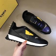 累積売上額TOP6 フェンディ FENDI メンズ牛革運動靴スニーカー新作快適高品質4色靴激安販売工場直売店