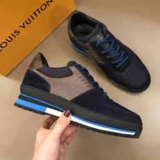 ヴィトン LOUIS VUITTON  メンズ牛革運動靴スニーカー新作キャンバスモノグラム2色スーパーコピー激安靴工場直営販売